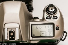 Nikon F80 - Top LCD, Compensation buttons and shutter