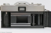 Rank Mamiya Auto Lux 35 fixed lens slr camera showing film chamber