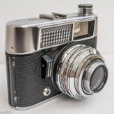 Voigtlander Vito automatic 35mm viewfinder camera showing light cell, shutter and sync socket