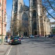 Looking down the road towards York Minster