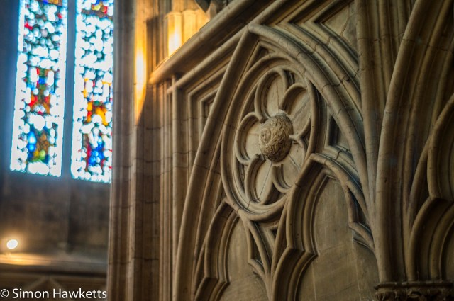 Sony Nex 6 pictures - A detailed picture of stone carving in York Minster