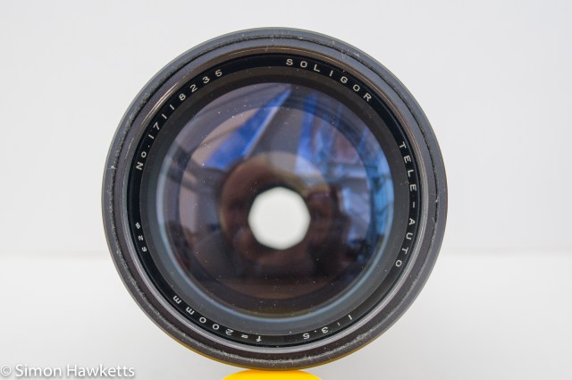 Soligor 200mm f/3.5 Front element view