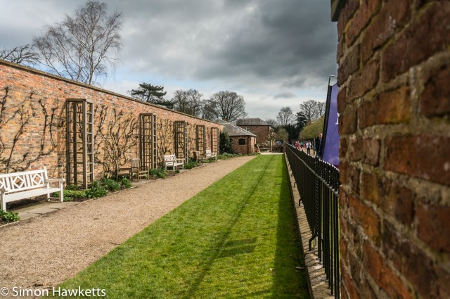 Beningborough Hall pictures - Inside one of the formal gardens