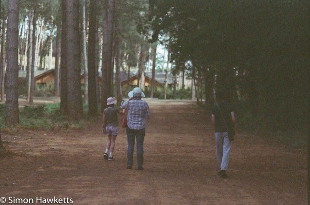 Miranda Sensorex EE slr with Kodak Gold 400 sample picture - Family in the forest at Woburn forest CenterParcs