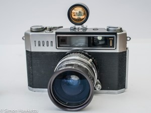 Taron Unique 35mm rangefinder camera with aux lens and viewfinder fitted