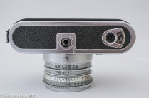 Voigtlander Dynamatic II 35mm rangefinder camera showing count down frame counter and tripod bush