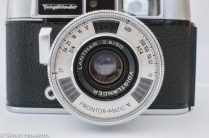 Voigtlander Dynamatic II 35mm rangefinder camera showing light cell round the lens