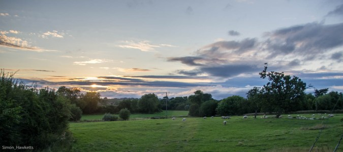 A panorama of the Gloucestershire countryside