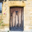 Weathered antique door in Chipping Campden