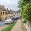 Looking down the street from St James church Chipping Campden