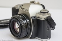 Pentax MZ-M 35mm manual focus slr showing side view