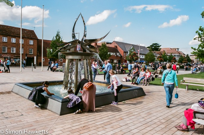 Minolta Dynax 505si Super sample pictures  - Fountain in Stratford on Avon