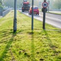 Schneider-Kreuznach Xenar sample - road sign shadows
