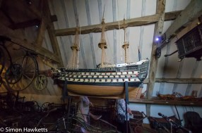 A model ship in Showshill Manor