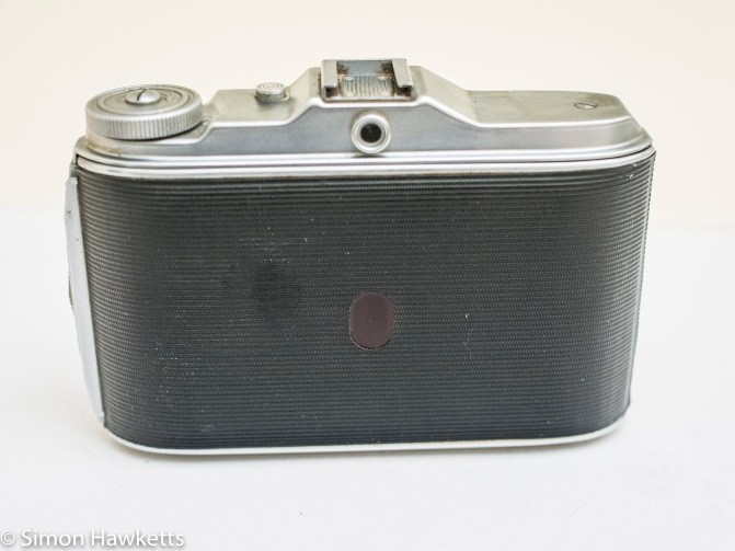 Agfa Isolette V - Back view with frame count window