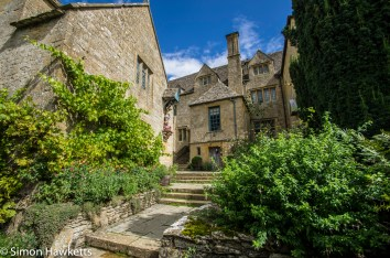 Steps leading to the house at Snowshill Manor