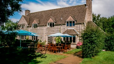 The tea room at Snowshill Manor