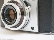 Zeiss Ikon Contina 35mm viewfinder camera showing sync socket