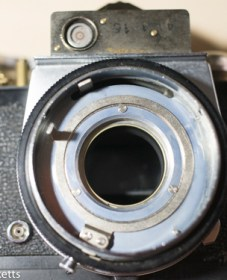 Kowa SE 35mm slr strip down - lens removed from body