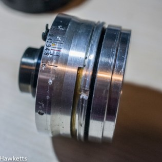 Kowa SE lens & aperture repair - lens focus ring removed