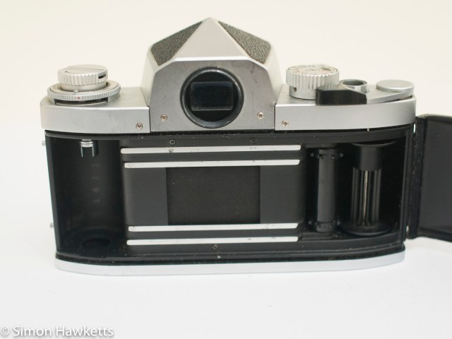 Soligor TM 35mm slr camera showing film chamber