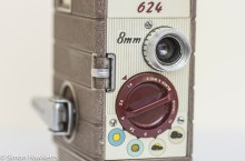 Bell & Howell 624 8mm movie camera controls