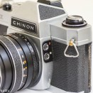 Chinon CX 35mm slr showing flash sync sockets