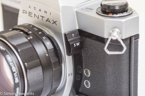 Pentax Spotmatic SP metering and stop down switch