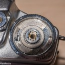 Agfa Ambi Silette 35mm rangefinder top cover removal - Remove the frame counter dial