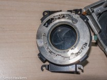 Agfa Ambi Silette shutter repair - shutter removed from camera