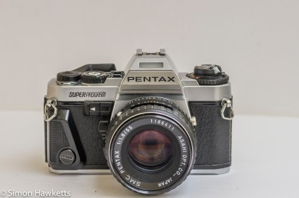 Pentax Super Program 35mm slr - front view