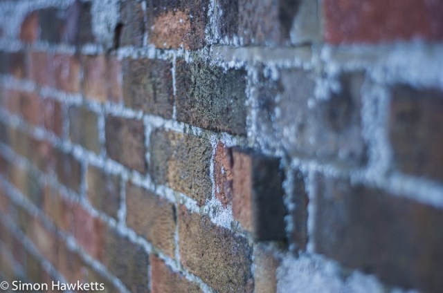 Auto Takumar 55mm sample pictures - Bricks showing defocus