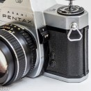 Pentax Spotmatic SPII 35mm slr camera - Metering switch and sync sockets