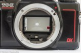 Konica TC-X view of mirror showing needle and red AE Warning flag