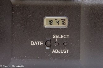 Pentax MZ data base with the date set to imprint