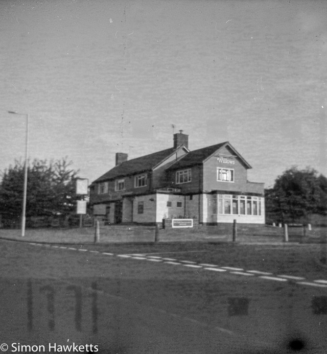 Kodak Brownie Reflex samples - Contemporary picture taken on outdated film of the Willows Pub