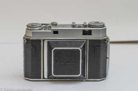 Kodak Retina IIa 35mm rangefinder camera front view with lens cover closed