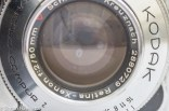 Kodak Retina IIa 35mm rangefinder camera showing a detail picture of the lens and possible mold growth
