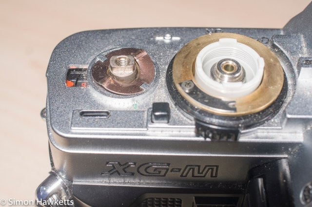 Minolta XG-M repair - remove the film advance
