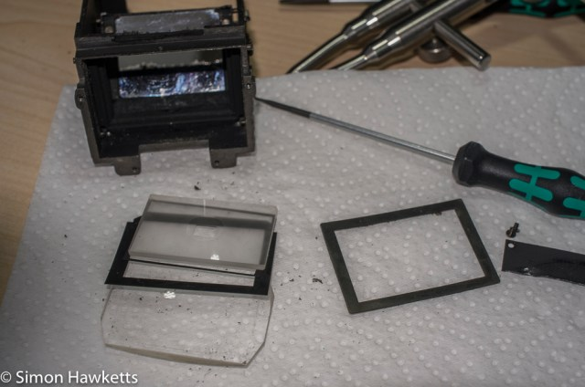 Petri flex v strip down - the focus screen components out