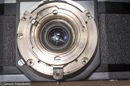 Zeiss Ikon Contaflex alpha - screws removed from back lens element plate