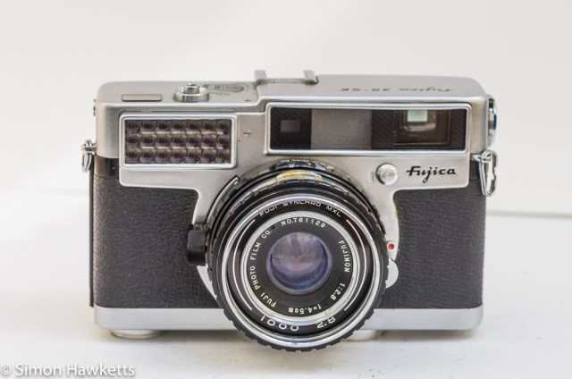 Fujica 35 SE 35mm rangefinder camera - front view
