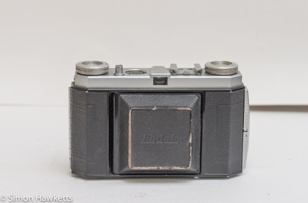 Kodak Retinette Type 017 35mm folding camera - front view with lens closed
