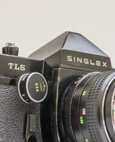 Ricoh Singlex TLS 35mm single lens reflex camera with chinon 55mm f/1.7 lens
