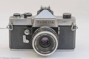 Yashica J-P 35mm slr camera front view