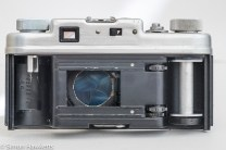 Argus C4 35mm rangefinder camera - view of the camera with the back removed