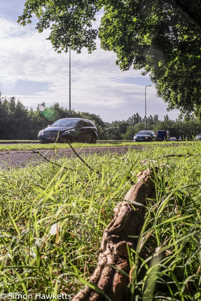 Sigma Mini-Wide on Fuji X-T1 sample pictures - broken branch and cars