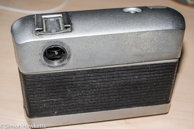 Werra Mat strip down and refurbishment - viewfinder lens removed