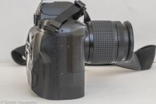 Fuji finepix S2 Pro DSLR - showing how the sensor unit has been added to the Nikon F80