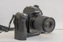 Fuji finepix S2 Pro DSLR - side view